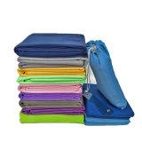 De grijze Absorberende Hete Handdoek van de Yoga Microfiber