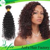 Отсутствие Weave химикатов, волос девственницы самой лучшей глубокой волны людских