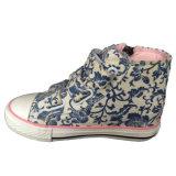 Голубые лодыжки цены по прейскуранту завода-изготовителя верхние/бежевые/розовые волшебные ботинки холстины ленты с застежкой -молнией