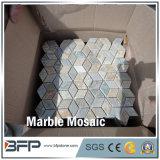 Mosaico de mármore branco / mosaico de pedra natural para design de interiores