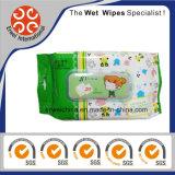 Wipes descartáveis orgânicos biodegradáveis do bebê