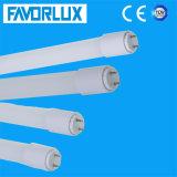 PF>0.9 150lm/W 10W de iluminación de tubo LED T8