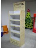 Étalage d'étage normal de papier ondulé de l'Europe Fsdu avec 4 étagères réglables, usine de présentoirs de bruit