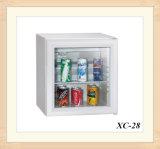 人気のホテルロックオプションをクリアドアワークトップ冷蔵庫28L