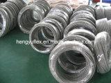 Tube PTFE SAE100 R14 316/304 hydraulique en téflon en acier inoxydable flexible tressé