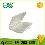 Casella di pranzo a gettare di plastica dello scompartimento dell'amido di mais per Mushroon