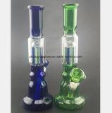 Blau, grüner Brennkolben-Geformter Glaswasser-Rohr-Farben-Filter