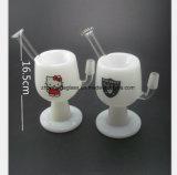 7 Zoll-Glaswasser-Rohr des weißen Cup-Öl-Glas-Rohres