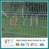 Comitato saldato verde curvo ricoperto vinile verde del recinto di filo metallico