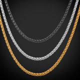 [فكتوري بريس] عقد مجوهرات نوع ذهب سلسلة لأنّ رجال نساء عقد