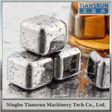 Il whisky lapida i cubi di ghiaccio riutilizzabili del vino dell'acciaio inossidabile