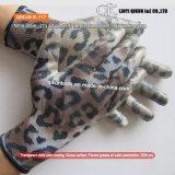 Покрытия ладони нитрила печати Polycotton цифров датчиков K-119 21 перчатка безопасности прозрачного работая