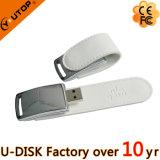 Mecanismo impulsor de encargo caliente del flash del USB del cuero blanco del regalo de la promoción (YT-5116)
