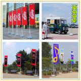 Vlaggen van het Strand van de Polyester van de Reclame van de lage Prijs de Openlucht/de Vlaggen van de Veer/de Vlaggen van de Traan (4m)