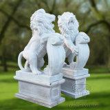 Leone di marmo naturale per la decorazione