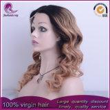 parrucca malese del merletto della parte anteriore dei capelli di colore 2t dell'onda bionda del corpo