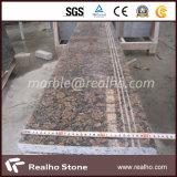 Polished 자연적인 돌은 층계 옥외 실내를 위한 화강암 족답한다