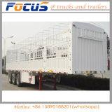 Semi Aanhangwagen van de Staak van het Vervoer van de Lading van de Omheining van de Fabrikant van China de Hoogste