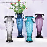 De de vrije Fles van het Glas van de Steekproef Met de hand gemaakte/Vaas van het Tafelblad van het Glas