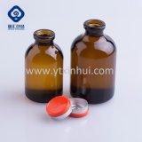 30ml löschen bernsteinfarbige medizinische aufbereitengeformte Glasphiole