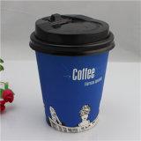 Goedkoop haal de Biologisch afbreekbare Kop van het Document van de Koffie van de Muur van de Rimpeling weg