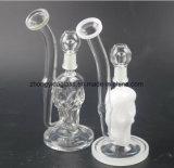 Waterpijp van het Glas van de Olie van de Filter van de Pijp van het Glas van het grimas de Rokende