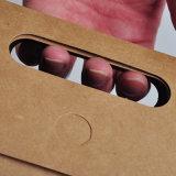 휴대용 브라운 Kraft 종이 차 과일 선물 포장 상자