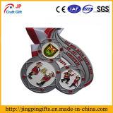 Medaglia su ordinazione del metallo del premio di sport di placcatura del peltro