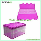 Plástico de alta calidad de almacenamiento plegable Bolsa plegable con tapa