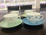 Atendimento personalizado excelente cappuccino Preto bone china chávenas de café de porcelana canecas de chá xícaras com Pires