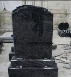 원장 묘석 디자인 러시아 까만 화강암 묘석을%s 기념물 석판