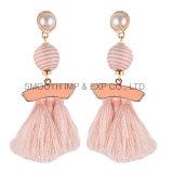 El patrón de largo de la moda Pearl borlas de Metal Joyería de pendientes de regalo Accesorios