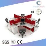 Cor vermelha moderno mobiliário de escritório Cross Workstation com Armário móvel (CAS-W31463)