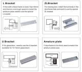 280kg Zl Bracekt / soportes de metal para puerta de cristal, el soporte de Cerradura electromagnética