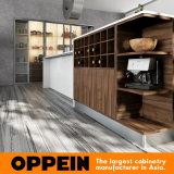 Oppein moderner fortschrittlicher weißer Lack-hölzerner Küche-Schrank (OP16-L17)