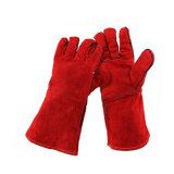 14 pulgadas de cuero de vaca guantes de soldadura