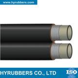 Manguito hidráulico del caucho R7/R8 de Braidedsae 100 de la fibra del manguito