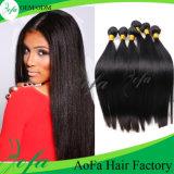 Estensione diritta dei capelli umani del grado del Virgin del tessuto brasiliano superiore dei capelli