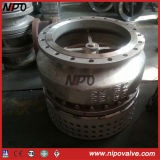 CF8m Stainless Steel Flanged Foot Valve con Strainer