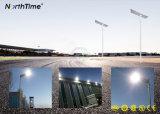 luz de rua solar completa energy-saving do diodo emissor de luz do controle 100W inteligente
