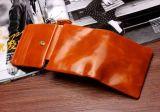 Raccoglitori quadrati di Unisexs in cuoio della pelle bovina della cera dell'olio