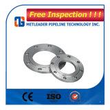 Enxerto do aço de carbono A105 na flange da tubulação com RF 150class Sch40 para a indústria