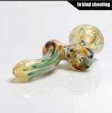 Tubulação de água de vidro do bebedoiro automático da cera da tubulação da mão das tubulações de fumo