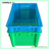 Almacenamiento ventilado de plástico de la caja de verduras y frutas en venta