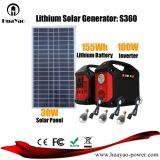 Het Systeem van de Zonne-energie van de Batterij van het lithium met LEIDENE Lichten voor Huis