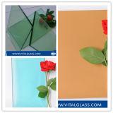 Azul/cinzento/verde/vidro manchado/matizado vidro de flutuador de bronze de flutuador para o vidro do edifício