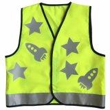 Het weerspiegelende Vest van de Veiligheid van de Druk van het Vest van de Polyester van 100%