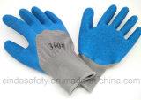 Перчатки защитной техники безопасности на производстве работы Crinkle латекса работая