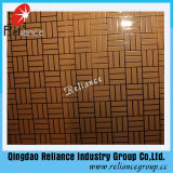 4mm / 5mm / 6mm Color plateado / dorado diseñado Vidrio decorativo / decoración del hotel Vidrio / vidrio decorativo grabado ácido