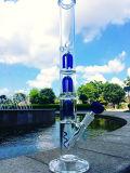 Pipes en verre de Pyrex avec 3 parts de bras d'arbre de percolateur de fumage de pipe de fond de becher pour seulement le tabac